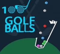 100 Golfbälle spielen