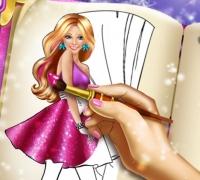 Barbie Malbuch spielen