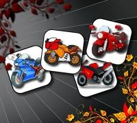 Cartoon Motorbikes Memory spielen