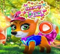 Glücklicher Fuchs spielen