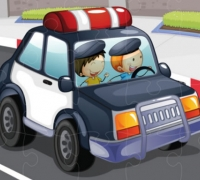 Police Cars Jigsaw spielen