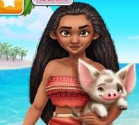 Prinzessin Moana Abenteuer Stil spielen