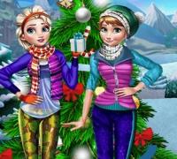 Schneefeiertags-Spaß spielen
