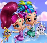 Shimmer And Shine Dress Up spielen