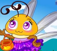 Süße Honigbiene spielen
