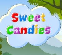 Süße Süßigkeiten spielen
