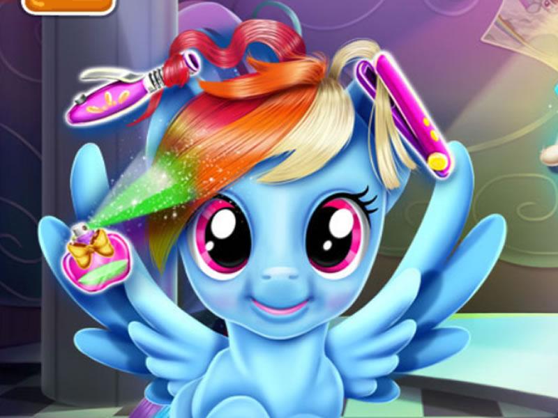 Rainbow Pony Echte Haarschnitte